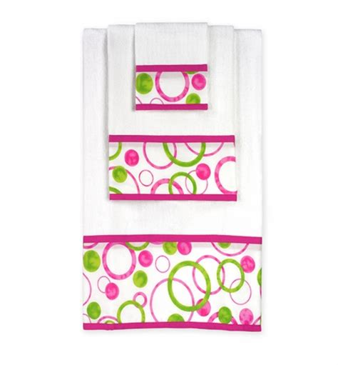 pink and green bath towels circles pink and green baby and cotton bath towel set 3pc set only 14 99