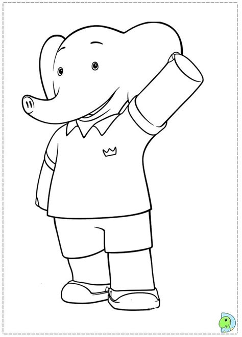 coloring adventure an coloring book with beautiful and relaxing coloring pages a magical world of creatures enchanted animals and whimsical books babar and the adventures of badou coloring page dinokids org