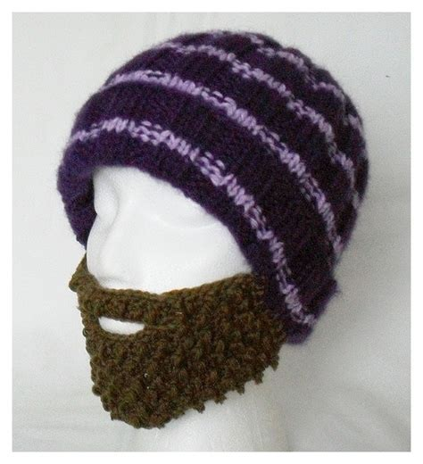 knitted beard knitted hat with beard