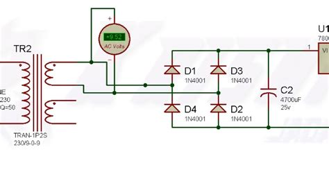 diode bridge in proteus 5v dc supply kraj masti