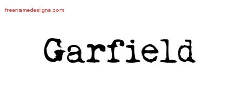 garfield name garfield archives free name designs