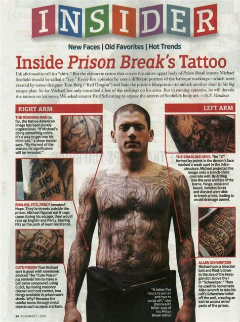 wentworth miller tattoos 25 best ideas about michael scofield on