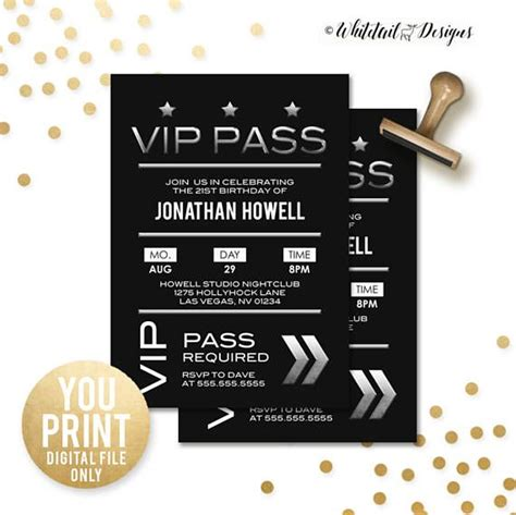 Best 25 Vip Pass Ideas Only On Pinterest Rock Star Party Sweet 16 Invitations And Sweet 16 Vip Birthday Invitations Templates Free