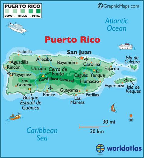 printable map puerto rico puerto rico large color map