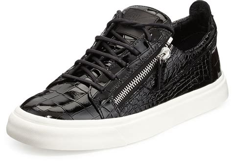 low top giuseppe sneakers black snake leather low top sneakers giuseppe zanotti