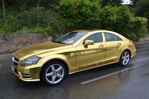 golden cars mercedes benz amg gold car fleet for cannes film festival
