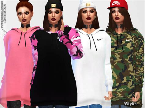oversized sweater sims 4 cc pinkzombiecupcakes oversized hoodie collection mesh