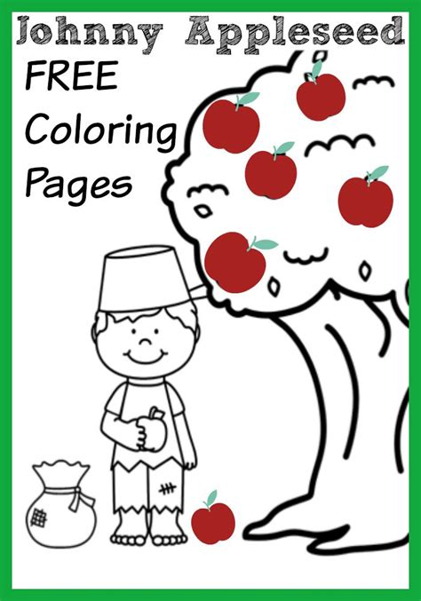 johnny appleseed coloring page johnny appleseed coloring pages coloring home