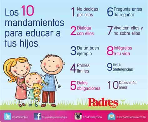 los diez mandamientos para nios 10 mandamientos para educar a los ni 241 os escuela para
