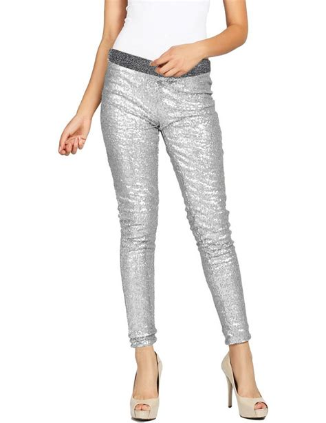 Jeggings Pencil s rockabilly sequins winter
