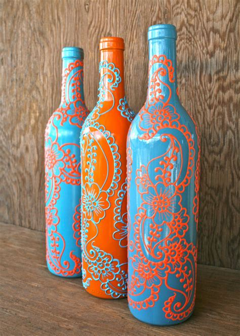 Painting On Vases by Painted Wine Bottlesbetterdecoratingbible