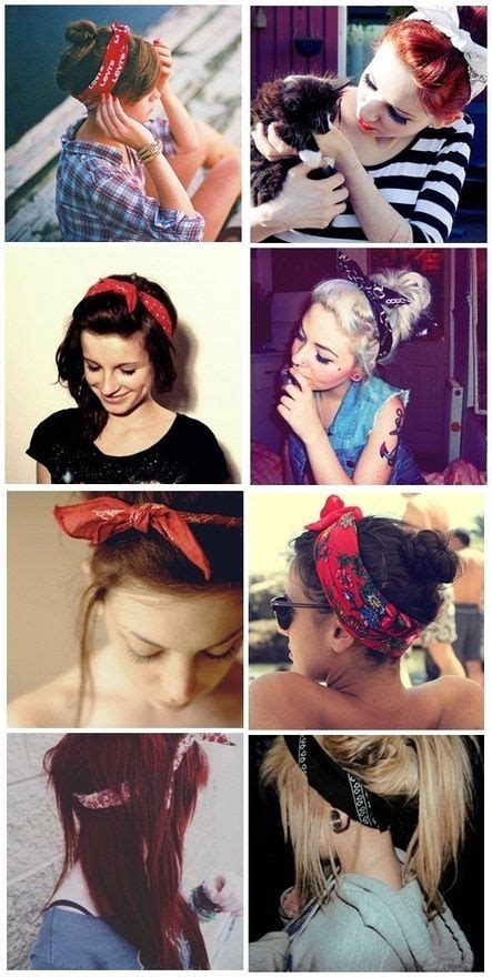different ways to wear a bandana with short hair different ways to wear a bandana hair ideas pinterest