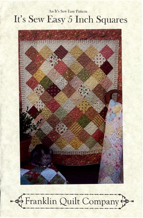 quilt pattern using 5 inch squares franklin quilt company its sew easy pattern using 5
