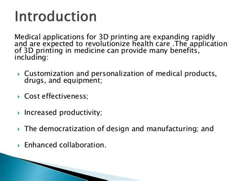 The Benefits Of 3d Printed Applications Of 3 D Printing In Biomedical Engineering