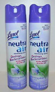 lot   lysol neutra air morning dew scent sanitizing spray air freshener   ebay