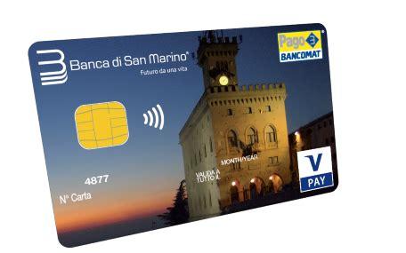 di san marino home banking carta multifuzione v pay contactless carta bancomat