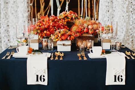 orange and blue table decorations photograph weddings me