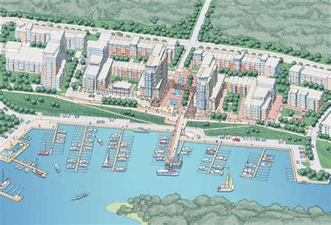 Waterfront Home Plans riverpark place master plan