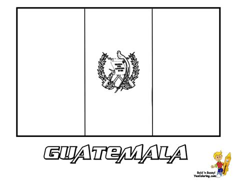 Guatemala Flag Coloring Page distinguished flag pictures coloring nations falkland