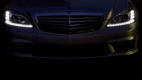 mercedes  facelift headlights  led daytime running