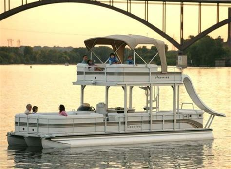 big boat with slide 17 best images about on the pontoon on pinterest lakes