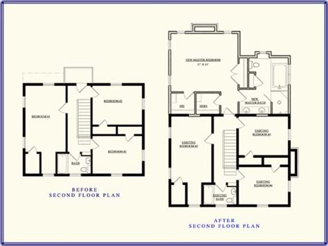2nd floor addition plans second story addition floor plan up stairs addition ideas