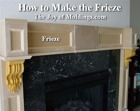 how to make a fireplace mantel how to build fireplace mantel 102 part 4 make the frieze