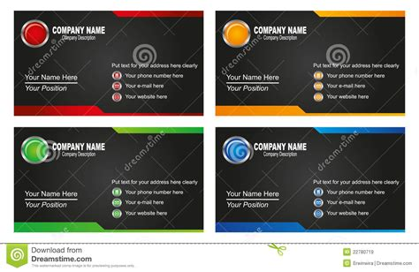 Royalty Free Business Card Templates by Business Card Template Royalty Free Stock Images Image