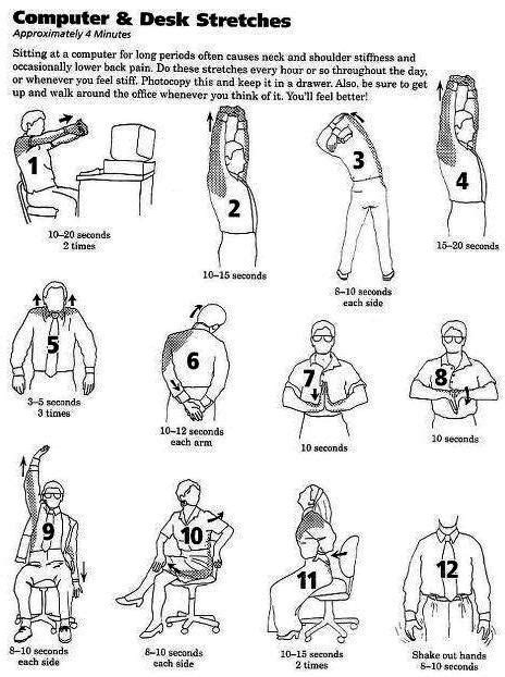 shoulder pain from sitting at desk 21 best low back pain exercises patient handout images on