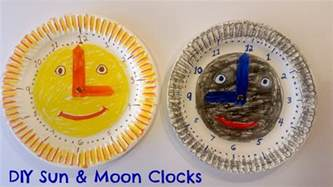 How To Make A Clock With Paper - how to make easy paper plate clock for great