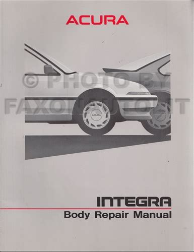 1987 acura integra repair shop manual original 1986 1989 acura integra body repair shop manual factory original