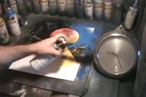spray painting techniques quot 1 minute paintings quot fastest spray in the world