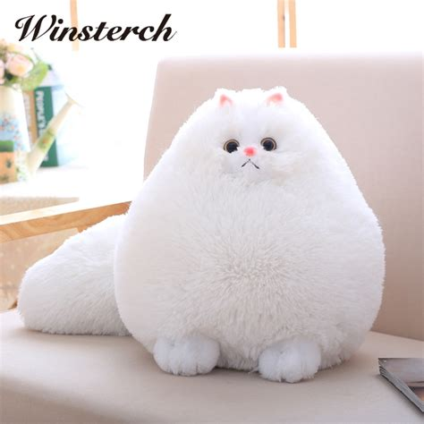 stuffed cat pillow plush fluffy cats cat toys pembroke pillow