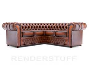 Corner Chesterfield Sofa Chesterfield Chesterfield Sofa 3d Model Corner Rendering Image Realistic Home