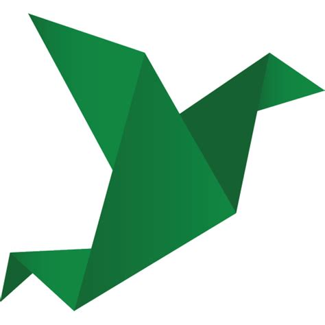 Origami Png - bird green icon origami birds icons softicons