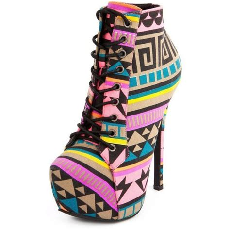 Tribal Pattern Ankle Boots | shoes tribal pattern aztec ankle boots lace up