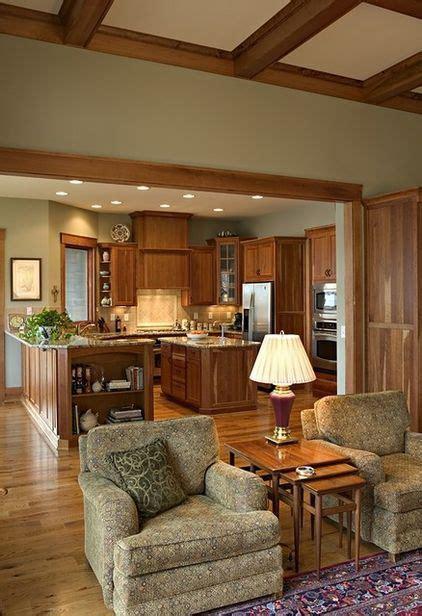 light oak cabinets  trim lighter green walls