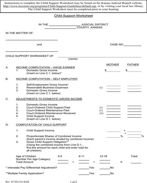 New Mexico Child Support Worksheet by Printables Nm Child Support Worksheet Happywheelsfreak