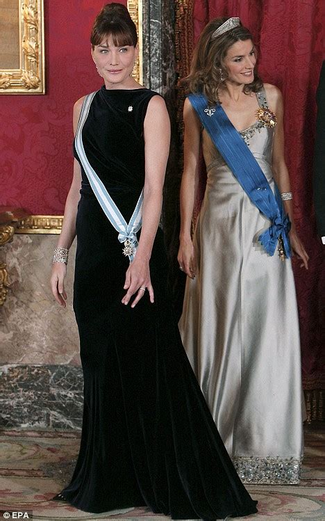 When The Of Met The Carla Bruni Is Demure In by The Day Carla Met Match Mrs Sarkozy Is Upstaged By