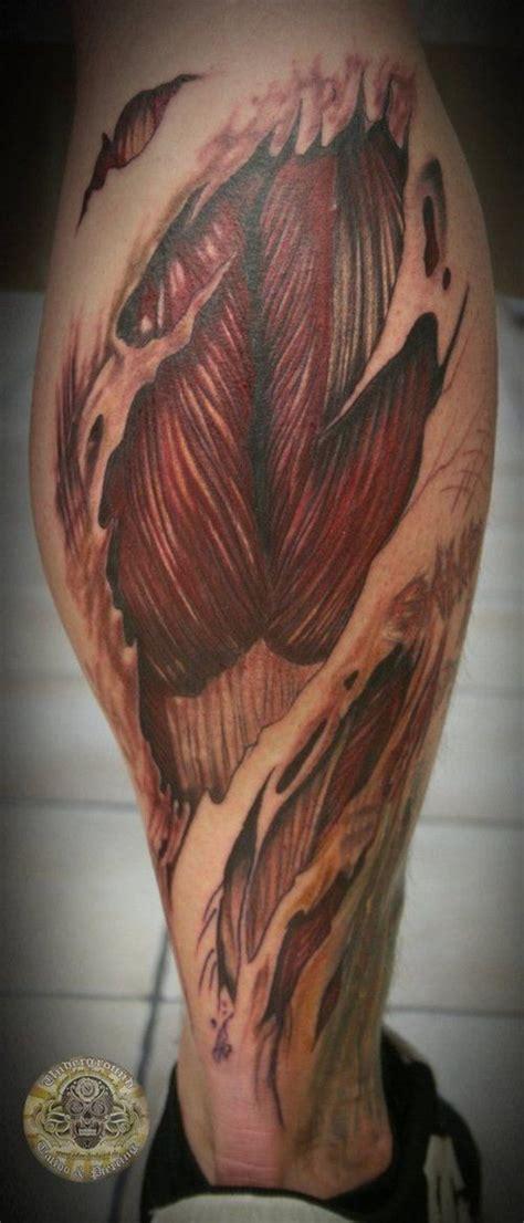 biomechanical tattoo vorlagen ripped skin biomechanical tattoo on right leg tic tac