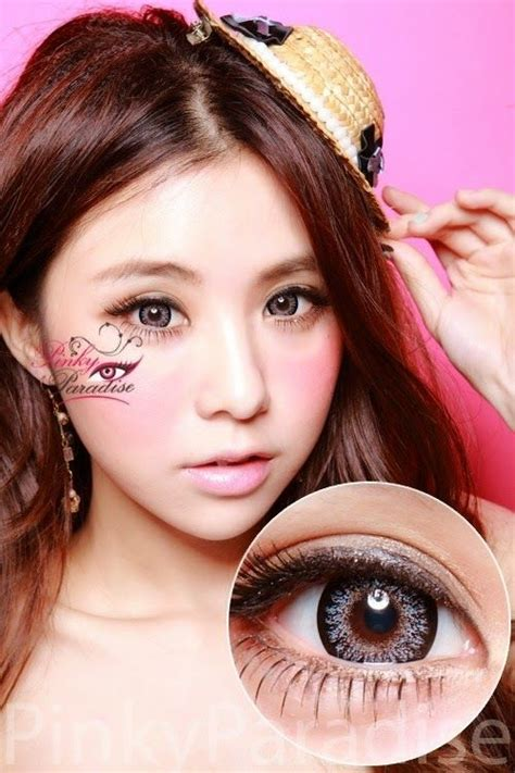 geo bella grey circle lenses colored contacts geo princess mimi sesame grey bambi series circle lenses