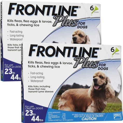 frontline plus for dogs 23 44 lbs frontline plus for dogs 23 44 lbs blue 12 month
