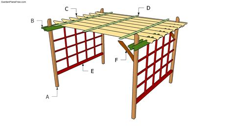 building a garden pergola plans free how to build garden
