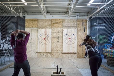 Backyard Axe Throwing Toronto backyard axe throwing league batl grounds blogto