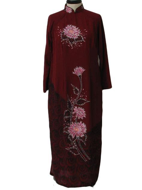 High Slide Blouse dress 90s no label womens wine black pink plumb glitter and mustard yellow sheer