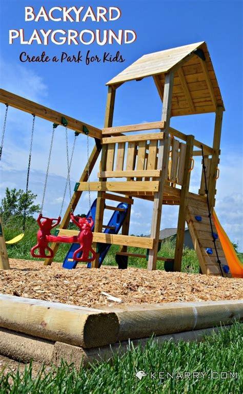 diy backyard playground   create  park  kids
