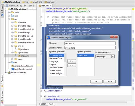 layout xml remove new xml refactorings for android developers intellij