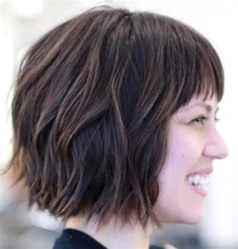 choppy bob with side fringe 17 best ideas about thick hair bangs on pinterest thick