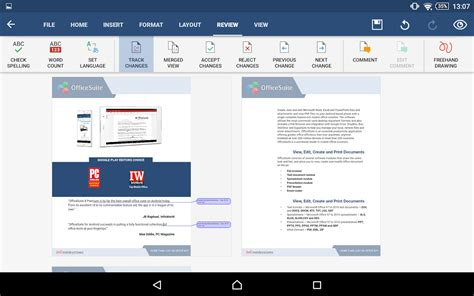 officesuite pro for android open edit and save