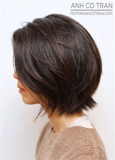 textured layered wavy hair by anh co tran hair with a 1000 ideas about brunette bob on pinterest brunette bob